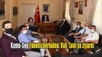 Photo of Kamu-Sen Yöneticilerinden, Vali Tavlı'ya ziyaret