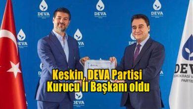 Photo of Keskin, DEVA Partisi Kurucu İl Başkanı oldu