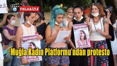 Photo of Muğla Kadın Platformu'ndan protesto