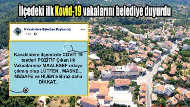 Photo of İlçedeki ilk Covid-19 vakalarını belediye duyurdu