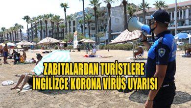 Photo of Marmaris zabıtasından tatilcilere İngilizce korona virüs uyarısı
