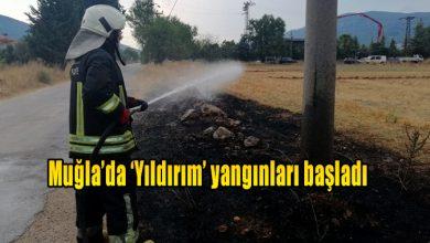 Photo of Muğla'da 'Yıldırım' yangınları başladı