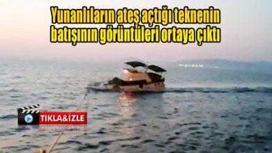 Photo of Yunanlıların ateş açtığı teknenin batışının görüntüleri ortaya çıktı