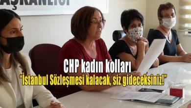 """Photo of CHP kadın kolları: """"İstanbul Sözleşmesi kalacak, siz gideceksiniz!"""""""