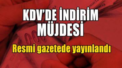 Photo of KDV'de indirim müjdesi