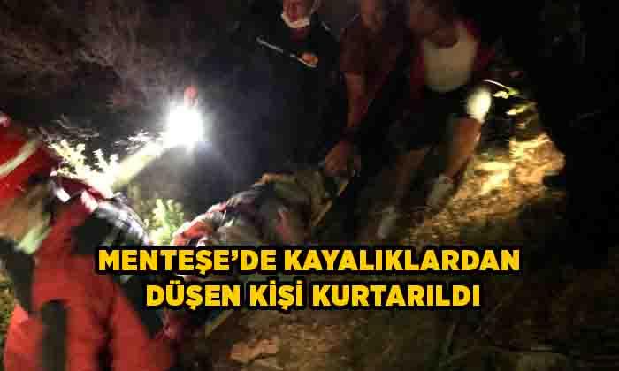 Kayalıklardan düşen kişi kurtarıldı