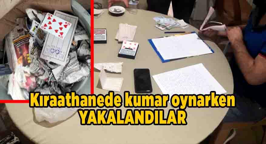Kısıtlamada kumar oynayan 16 kişiye 76 bin 880 lira ceza