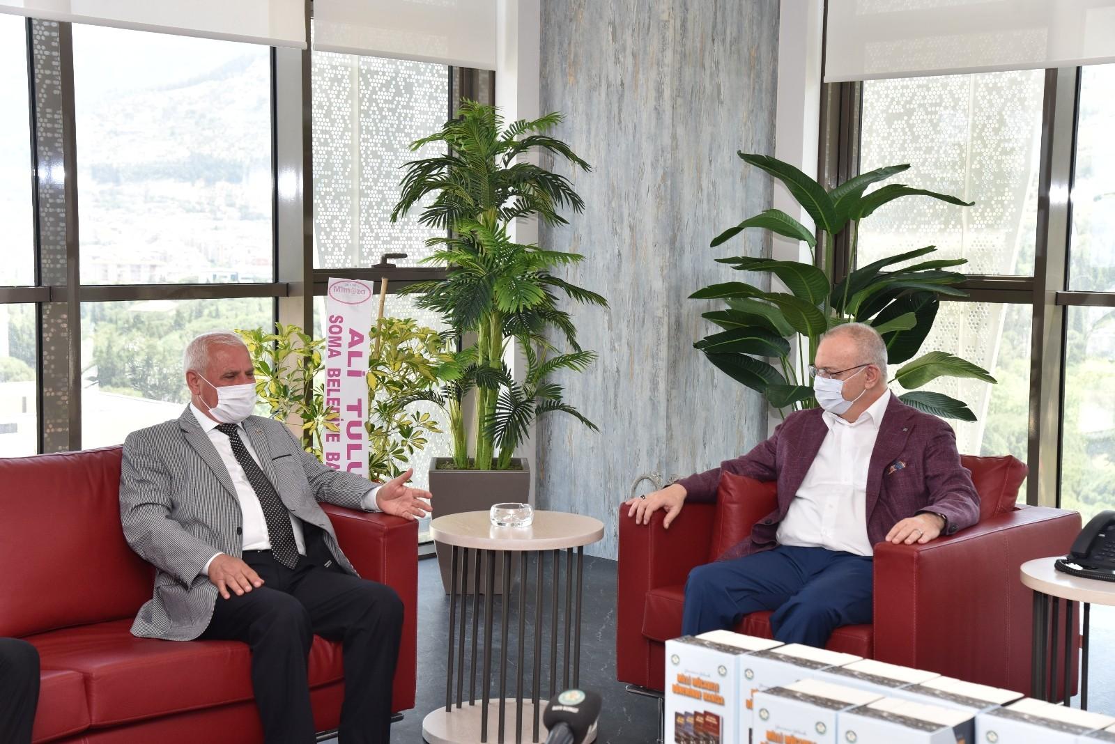 Başkan Ergün Soma heyetini ağırladı