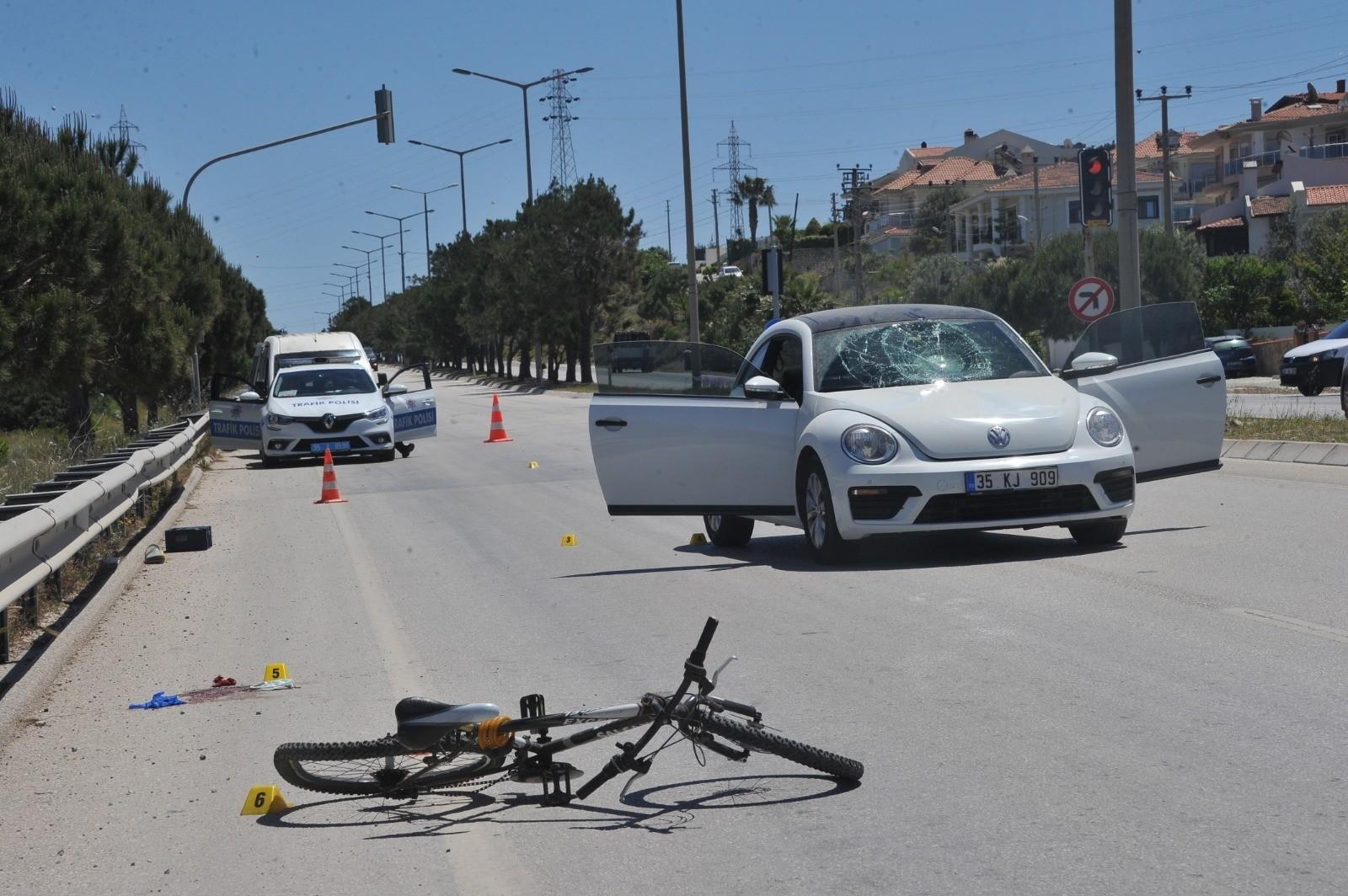 Bisikletli adam, araba çarpması sonucu öldü