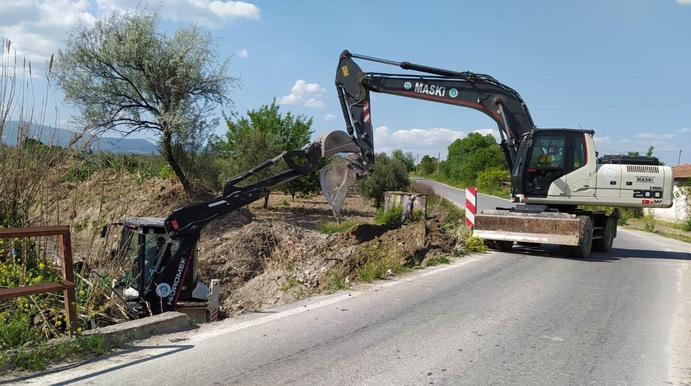 Dereköy Mahallesinde taşkınlara karşı önlem alınıyor