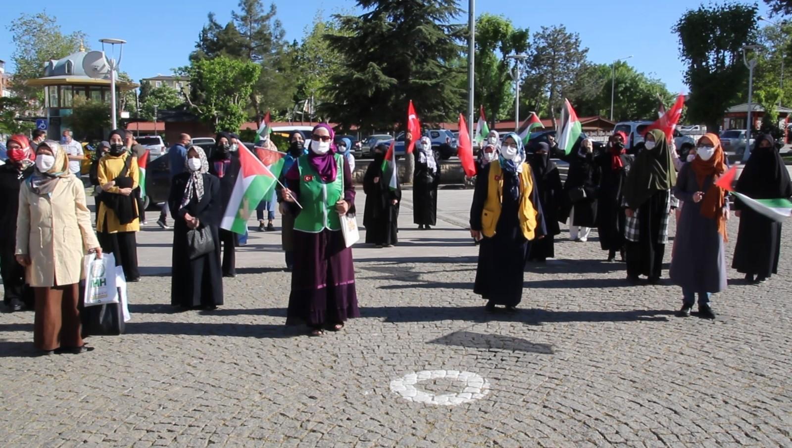 Uşak'ta İsrail saldırıları kınandı
