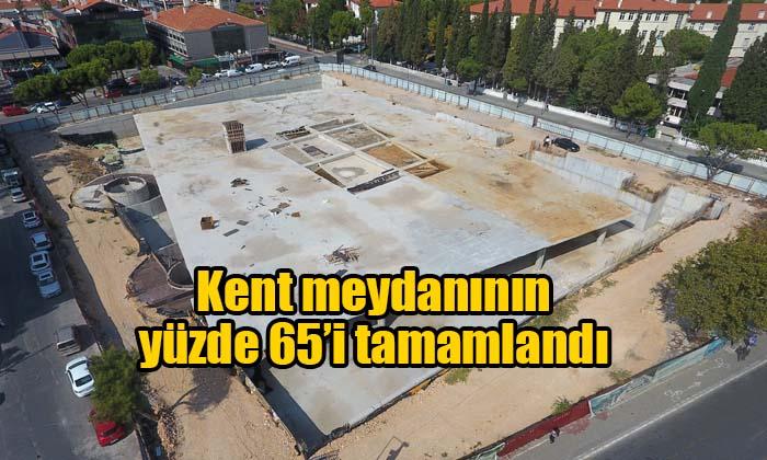 Kent meydanının yüzde 65'i tamamlandı
