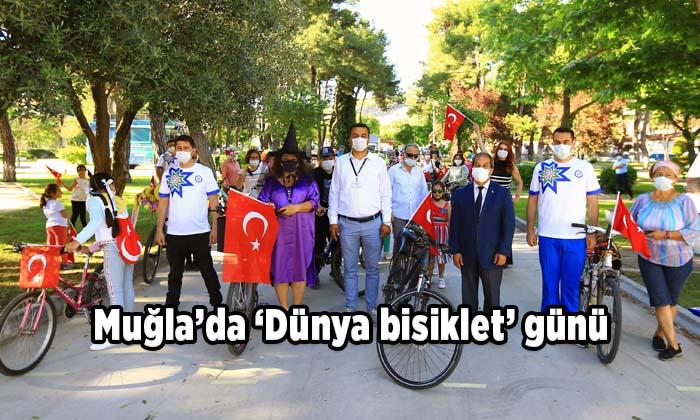 Muğla'da 'Dünya bisiklet' günü