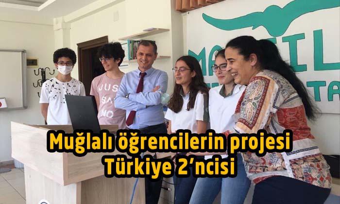 Muğlalı öğrencilerin projesi Türkiye 2'ncisi