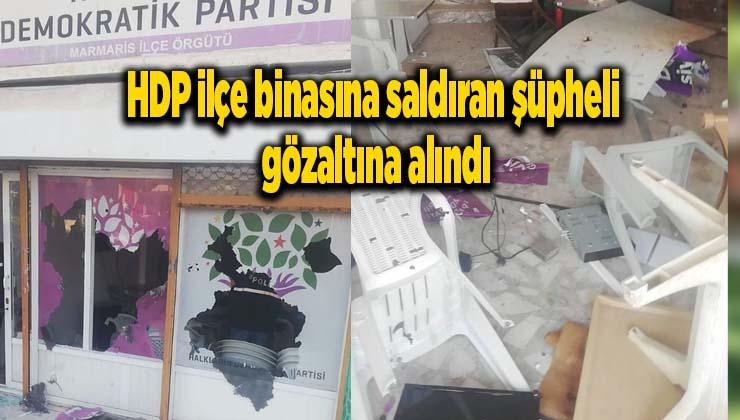 HDP ilçe binasına saldıran şüpheli gözaltına alındı