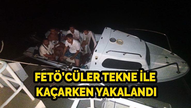 Bodrum'da FETÖ'cüler tekne ile kaçarken yakalandı