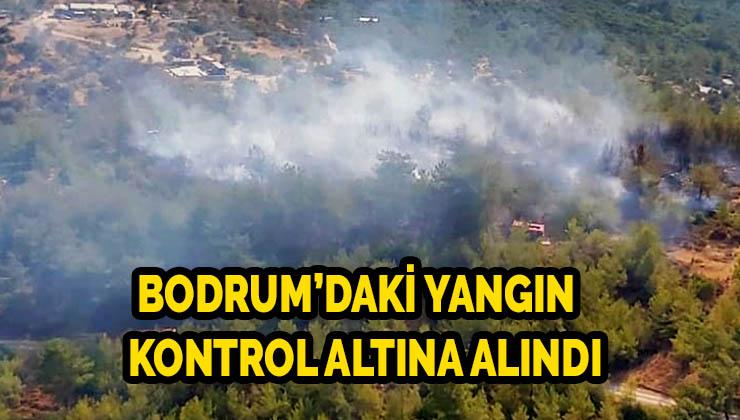Bodrum'daki yangın büyümeden kontrol altına alındı