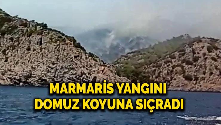 Marmaris yangını Domuz Koyu'na sıçradı