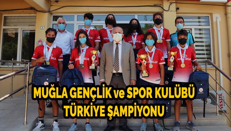 Muğla Gençlik ve Spor Kulübü Türkiye şampiyonu