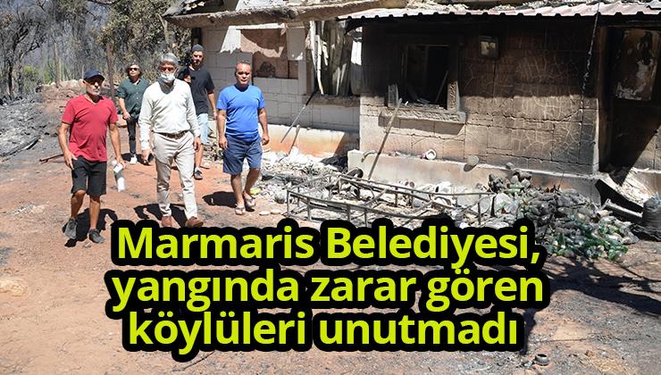 Marmaris Belediyesi, yangında zarar gören köylüleri unutmadı
