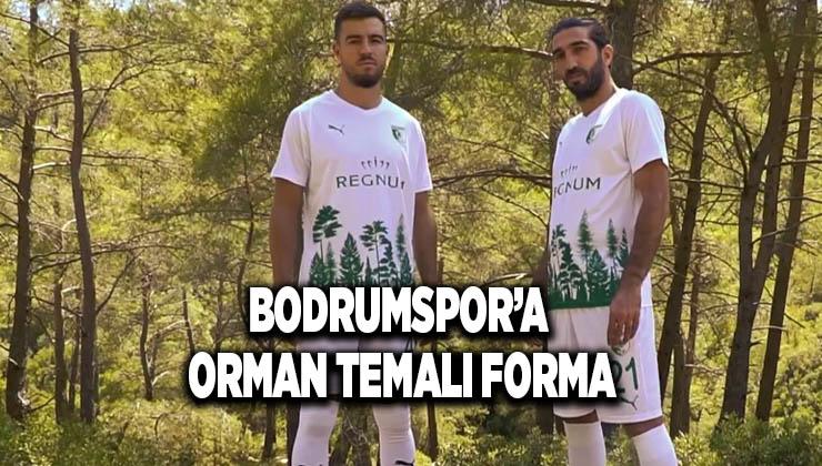Bodrumspor'a orman temalı forma