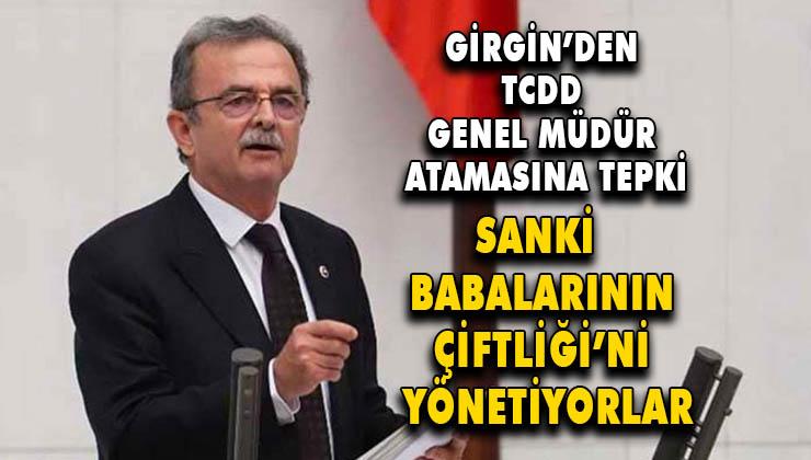 """CHP Milletvekili Girgin ;""""Artık ihaleyi alanlar ihaleyi dağıtsın mantığına geçtiler"""""""