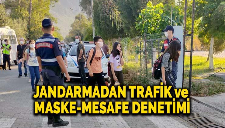 Jandarmadan trafik ve maske-mesafe denetimi
