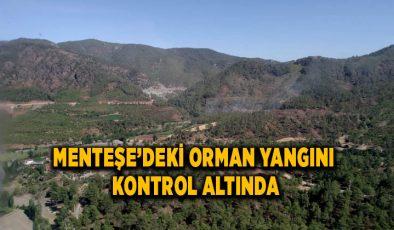 MENTEŞE'DEKİ ORMAN YANGINI KONTROL ALTINDA